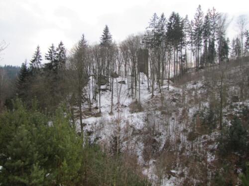 Hrad Chrenovice zima
