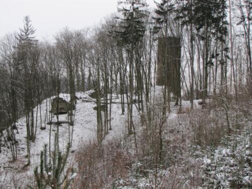Hrad Chrenovice zima 2