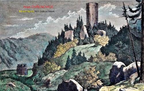 Hrad Chřenovice 1872 barva Edvard Herold